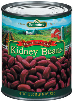 Springfield Fancy Dark Red Kidney Beans 30 Oz Can