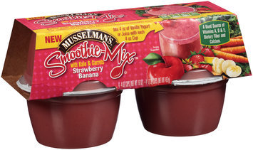 Musselman's® Strawberry Banana Smoothie Mix™ with Kale & Carrots 4-4 oz. Cups