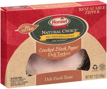 Hormel® Natural Choice® Cracked Black Pepper 100% Natural Deli Turkey
