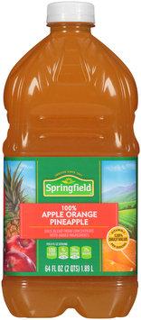 Springfield® 100% Apple Orange Pineapple 64 fl. oz. Bottle