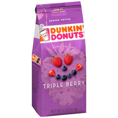 Dunkin' Donuts® Triple Berry Ground Coffee 11 oz. Bag