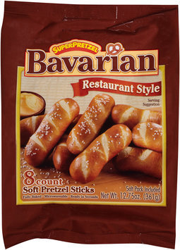SuperPretzel® Bavarian Soft Pretzel Sticks 12.75 oz. Bag