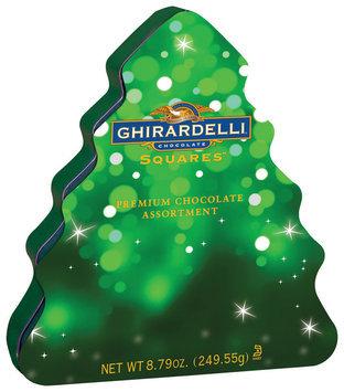Ghirardelli Chocolate Squares Premium Chocolate Assortment Tree Chocolate 8.79 Oz Tin