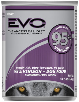EVO 95% Venison Dog Food 13.2 oz. Can
