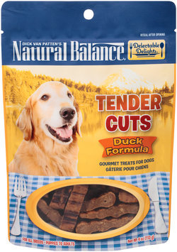 Natural Balance® Delectable Delights® Tender Cuts Duck Formula Gourmet Dog Treats 4 oz. Stand Up Bag
