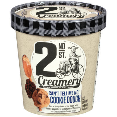 2nd St. Creamery™ Can't Tell Me No! Cookie Dough™ Ice Cream 1 pt. Cup