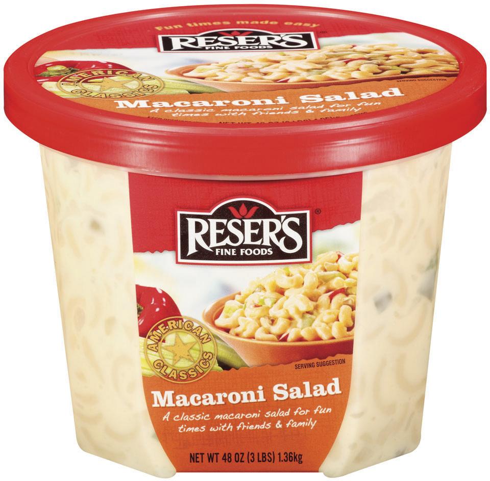Reser's Fine Foods  Macaroni Salad 48 Oz Tub