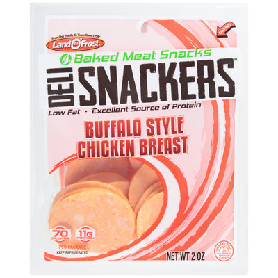 Land O'Frost® Deli Snackers™ Buffalo Style Chicken Breast Baked Meat Snacks 2 oz. Bag