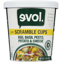 EVOL Egg, Basil, Pesto, Potato & Cheese Scramble Cups 5 oz. Cup