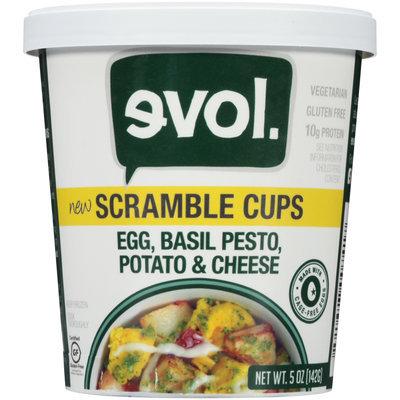 EVOL Egg, Basil, Pesto, Potato & Cheese Scramble Cups 5 oz. Cup