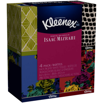 Kleenex® Designed by Isaac Mizrahi Facial Tissues 4-74 ct Boxes