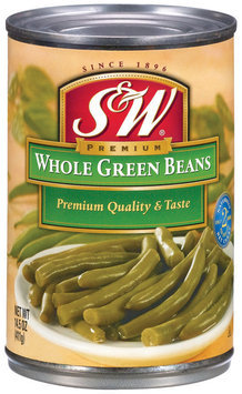 S&W® Whole Green Beans