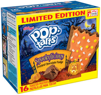 Kellogg's® Pop-Tarts® Spookylicious® Frosted Chocolate Fudge Toaster Pastries 16 ct Box