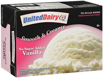 United Dairy® No Sugar Added Vanilla Ice Cream 64 oz Carton