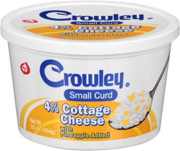 Crowley® Small Curd 4% Cottage Cheese with Pineapple 16 oz. Tub