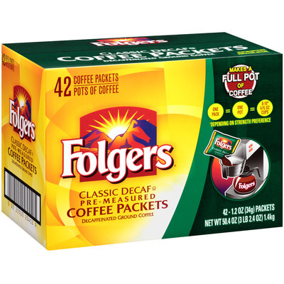 Folgers® Classic Decaf Pre-Measured Ground Coffee Packets 42 ct Box