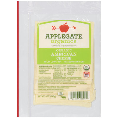 Applegate Farms Organic American (Item Number 12694) Cheese 5 Oz Peg