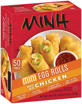 Minh® White Meat Chicken Mini Egg Rolls 50 ct Box