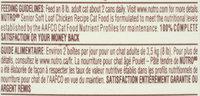Nutro® Senior Soft Loaf Chicken Recipe Cat Food 3 oz. Can