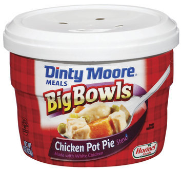 DINTY MOORE Chicken Pot Pie Stew Big Bowls Meals 15 OZ MICROWAVE BOWL