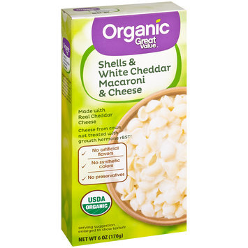 Great Value™ Organic Shells & White Cheddar Macaroni & Cheese