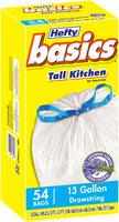 Hefty® Basics® Lavender Scented Odor Control 13 Gallon Drawstring Tall Kitchen Bags 54 ct Box