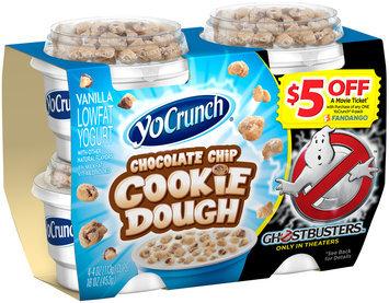 YoCrunch® Vanilla Lowfat Yogurt with Chocolate Chip Cookie Dough 4-4 oz. Cups