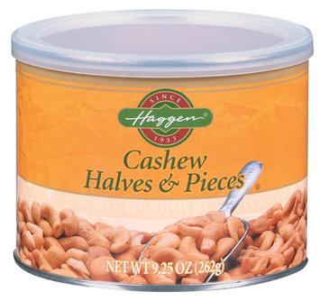 Haggen Halves & Pieces Cashews 9.25 Oz Canister