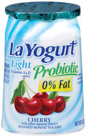 La Yogurt® Light Probiotic Cherry Blended Nonfat Yogurt 6 oz Cup