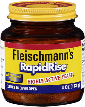 Fleischmann's® RapidRise™ Highly Active Yeast 4 oz. Jar