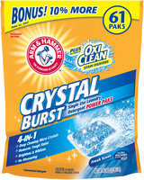 ARM & HAMMER™ Unit Dose Laundry Detergent Crystal Burst Single Use Power