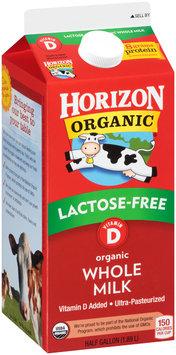 Horizon Organic® Lactose-Free Vitamin D Organic Whole Milk 1/2 gal. Carton
