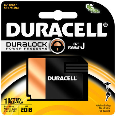 Duracell Medical J batteries 1 Count