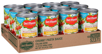 Del Monte™ Chunky Italian Herb Pasta Sauce 12-24 oz. Cans