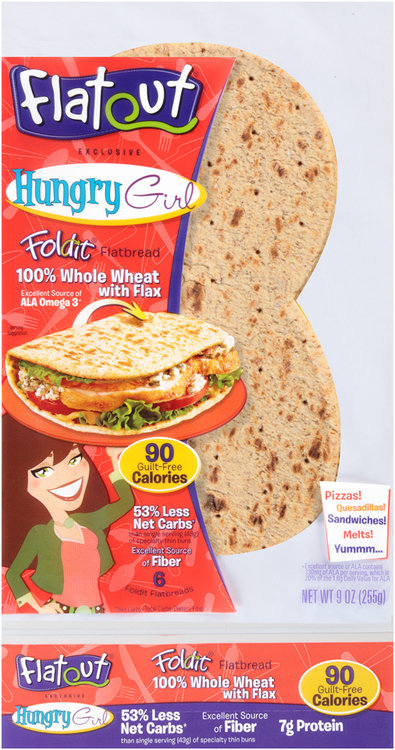 Flatout® Foldit® Hungry Girl 100% Whole Wheat with Flax Flatbread