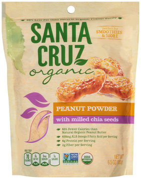 Santa Cruz Organic® Peanut Powder with Milled Chia Seeds 6.5 oz. Bag