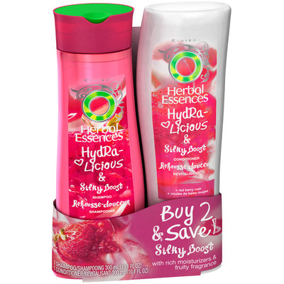 Herbal Essences Hydralicious Silky Boost Moisturizing Shampoo & Conditioner Dual Pack