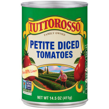 Tuttorosso® Petite Diced Tomatoes 14.5 oz. Can