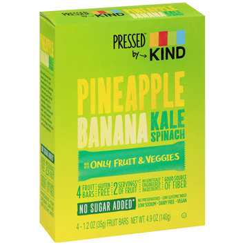 Kind™ Pressed™ Pineapple Banana Kale Spinach Fruit Bars 4-1.2 oz. Wrappers