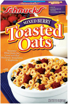 Schnucks Mixed Berry Toasted Oats Cereal 11 Oz Box