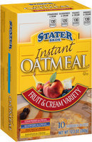 Stater Bros.® Fruit & Cream Variety Instant Oatmeal 10 ct Box