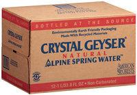 Crystal Geyser® Alpine 1 L Natural Spring Water 12 Ct Plastic Bottles