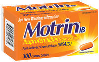 Motrin® Coated Caplets Club Ib Pain Reliever / Fever Reducer 300 Ct Box