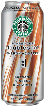 Starbucks® Doubleshot® Energy Cinnamon Dulce Flavored Coffee Drink 15 fl. oz. Can