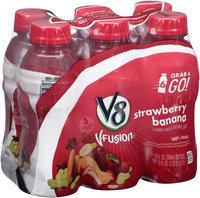V8® V-Fusion® Strawberry Banana Flavored Fruit & Vegetable Juice 6-12 fl. oz. Plastic Bottles