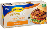 Butterball® Everyday Cheddar Turkey Burgers 6 ct Box