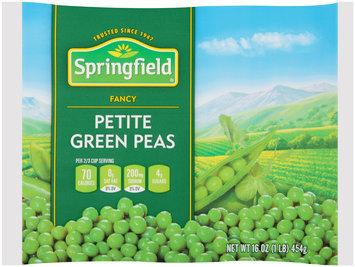 Springfield® Fancy Petite Green Peas 16 oz. Bag
