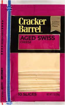 Cracker Barrel® Aged Swiss Cheese Slices 10 ct ZIP-PAK®