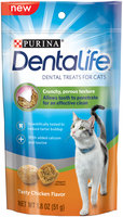 Purina DentaLife Tasty Chicken Flavor Dental Treats for Cats 1.8 oz. Pouch