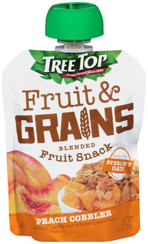 Tree Top® Fruit & Grains Peach Cobbler Blended Fruit Snack 3.2 oz. Pouch